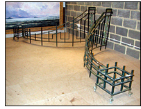 Art Deco Bronze Entrance Railings