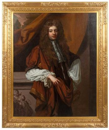 The painting 'Portrait of a Gentleman in Robes'