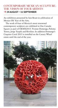 A WORK OF ART: CANARY WHARF WELCOMES MEXICAN SCULPTURES – 24.08.15